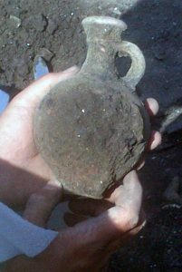 The newly discovered Roman flagon