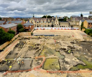 View of the excavations at Brunswick Road, Gloucester