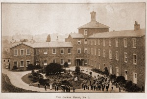 The entrance yard to Allen House, c. 1900