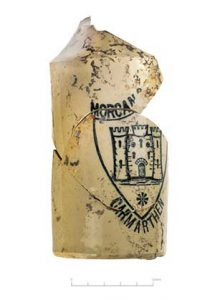 Ceramic bottle from one of CA's excavation sites in Bristol