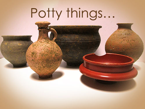 Almost complete pottery vessels from Towcester