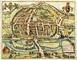 Map of medieval exeter