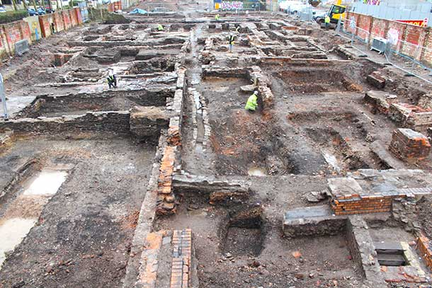 Excavating the domestic and industrial buildings