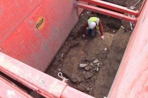 Roman defences identified 2m below the modern ground surface during previous evaluation trenching