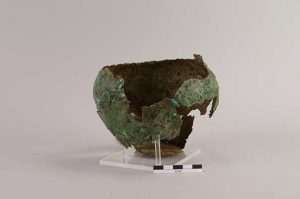 The copper-alloy 'camp kettle' after conservation