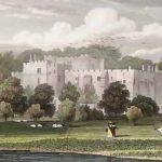 Berkeley Castle, engraving of 1830 by H. Bond after jp Neale