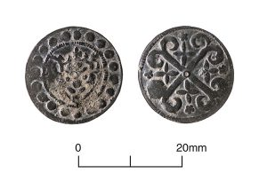 English or French jetton, late 13th/14th-century