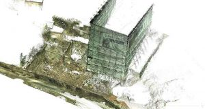 3d Pointcloud. Oblique view of Gunns Mill, 2015