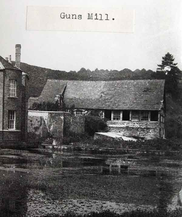 Gunns Mill from GL Archives c. 1900 looking east across the mill pond