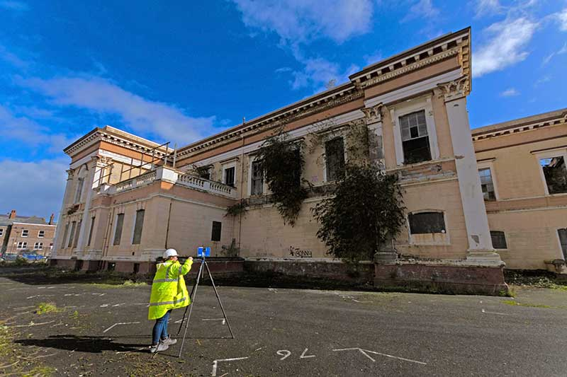 Surveying Crumlin Road Courthouse