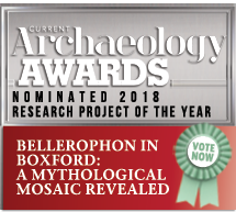 Archaeology Awards nominee badge for Boxford community dig