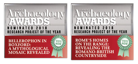 Currwnt Archaeology Awards nominee badges