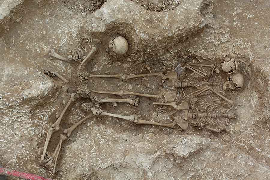 Fully excavated grave