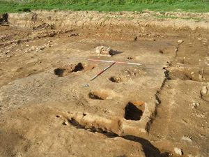 excavated medieval building