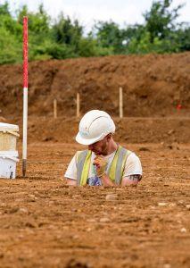 Excavating an Iron Age storage pit