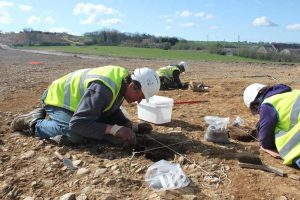 Excavation of Bronze Age cremations, Site 26