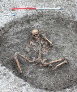 Unusual Iron Age burial