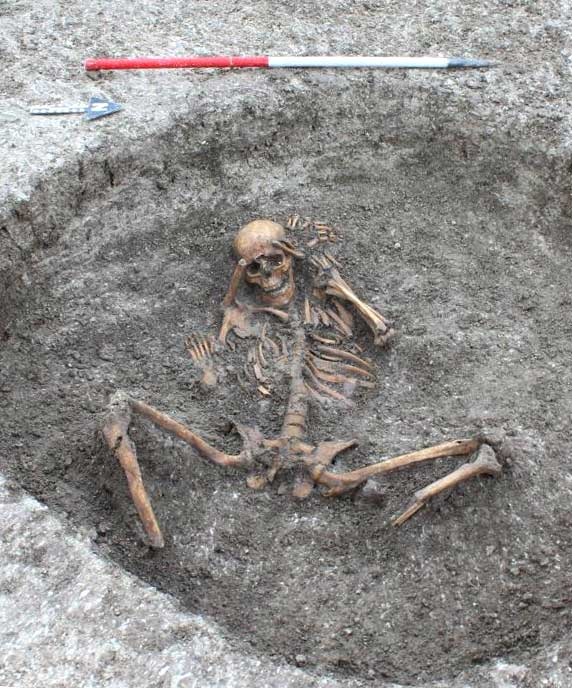 Unusual Iron Age burial