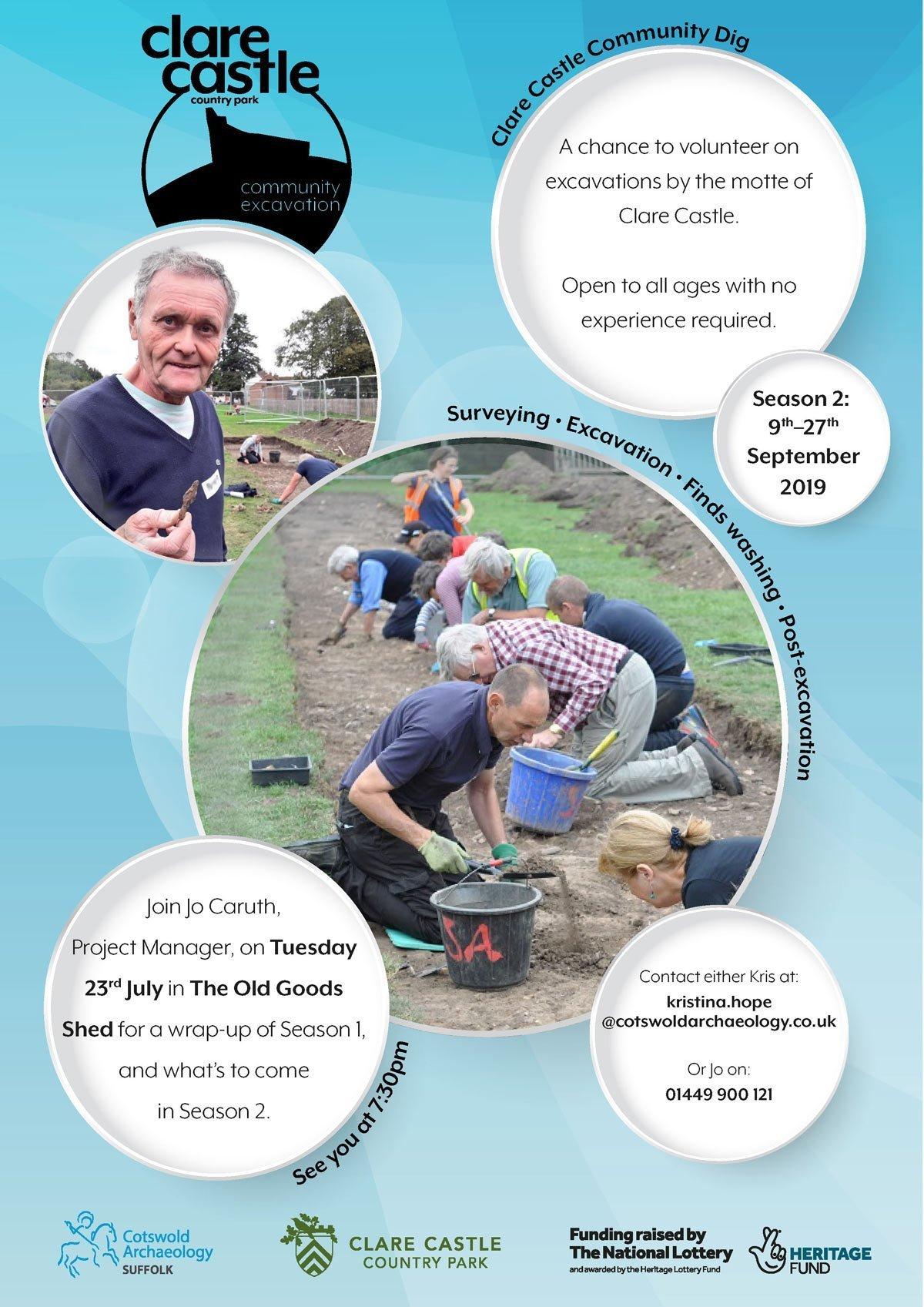 Clare Castle Community excavation poster