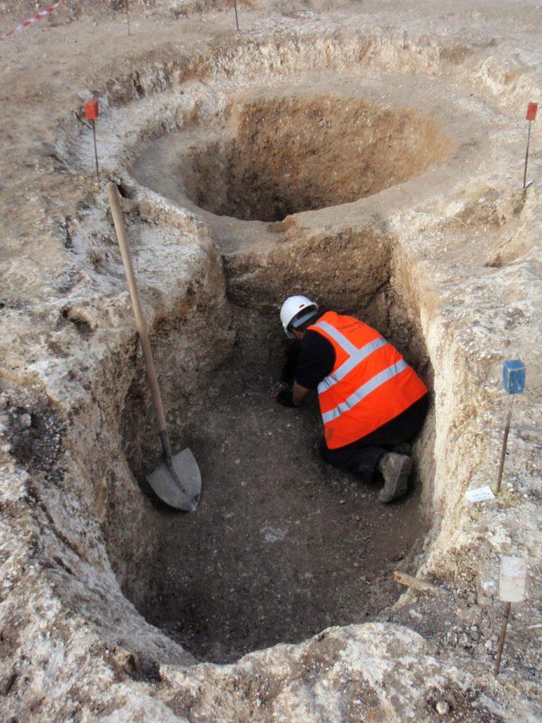 The medieval lime kiln base
