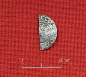 A silver cut halfpenny of William I