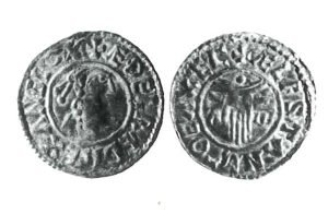 A silver coin of Aethelred II