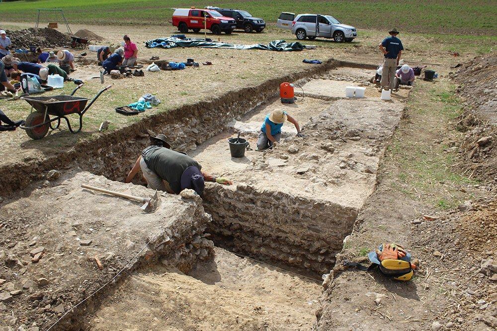 Boxford Mosaic trench 2