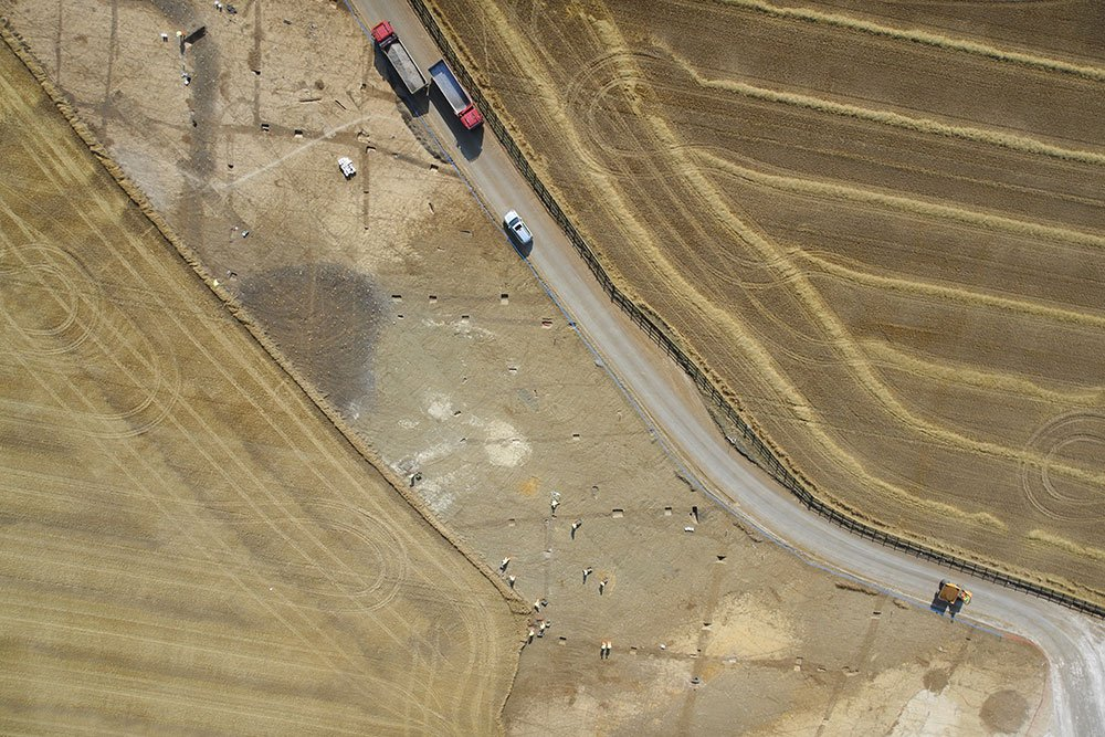 Drone Image of archaeological works