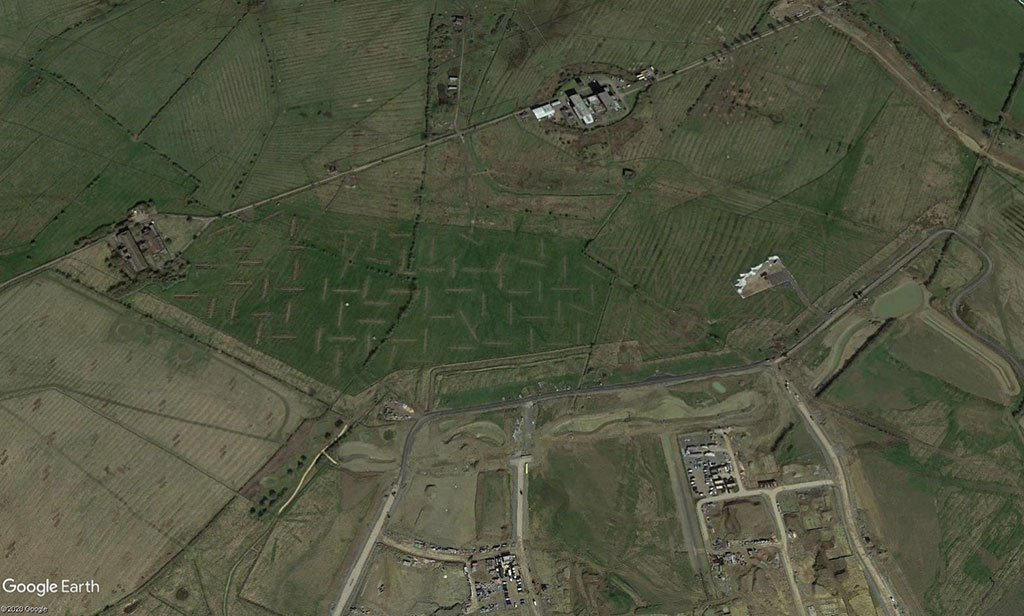large-scale trial trenching project satellite image