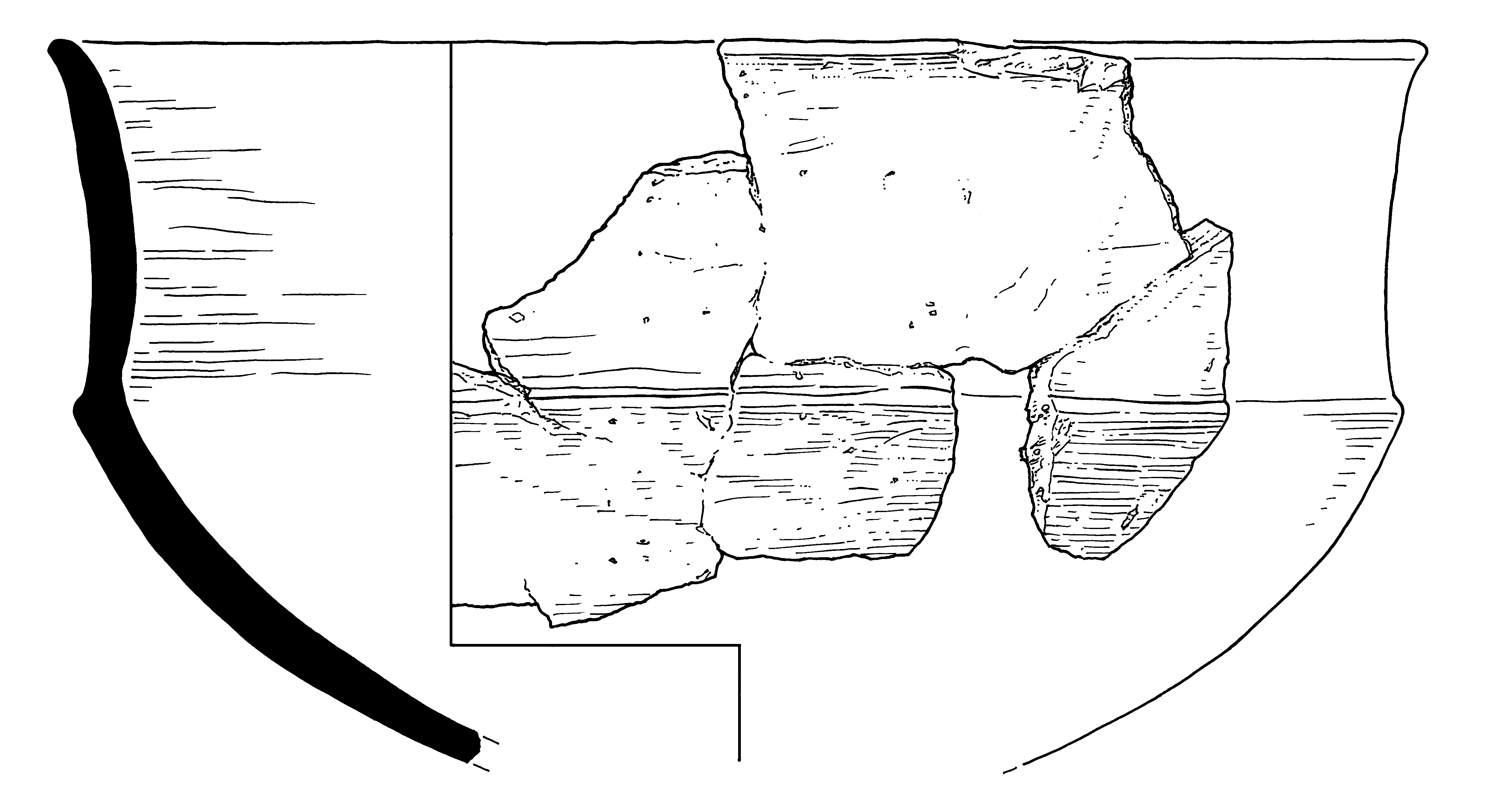 Illustration of a Neolithic pot from Cornwall
