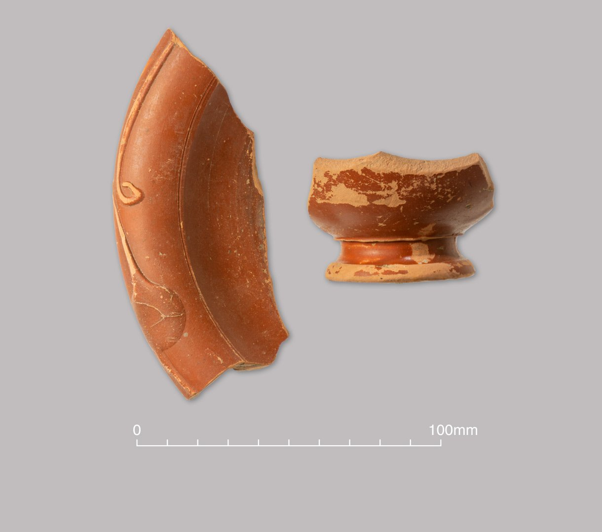 Central and East Gaulish Samian ware dish and flagon. Early/Middle Roman (c. 120–200/250 AD)