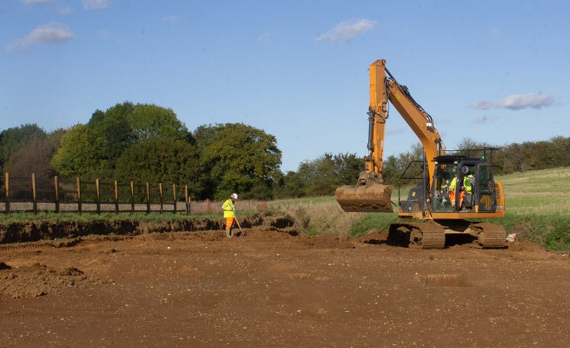 A120 stripping the site