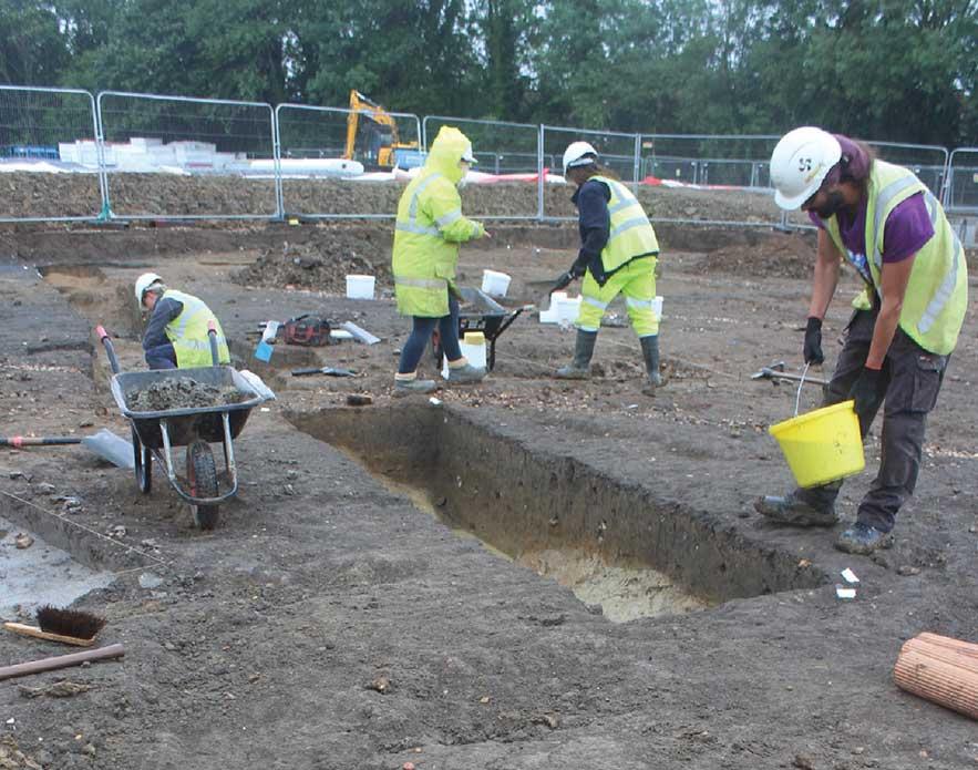 Swan School excavation in progress