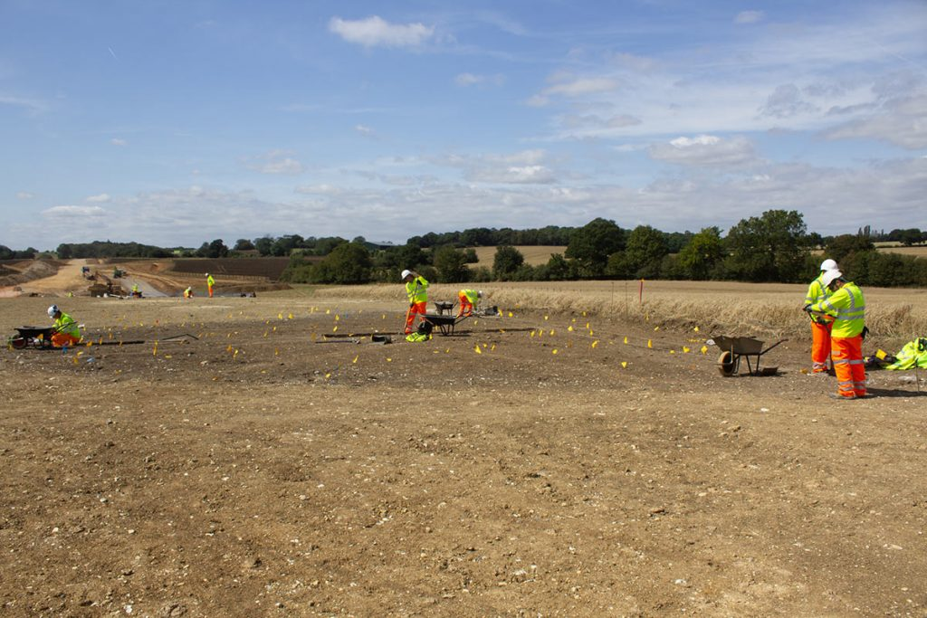 archaeological excavation at A120