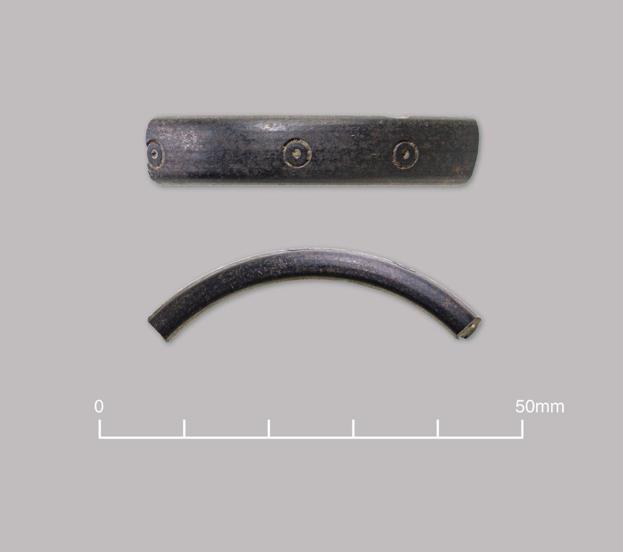 Decorated shale bracelet. Late Roman (c. 270–400 AD)