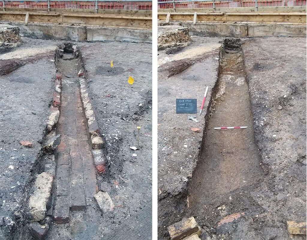 Brick-lined post-medieval culvert