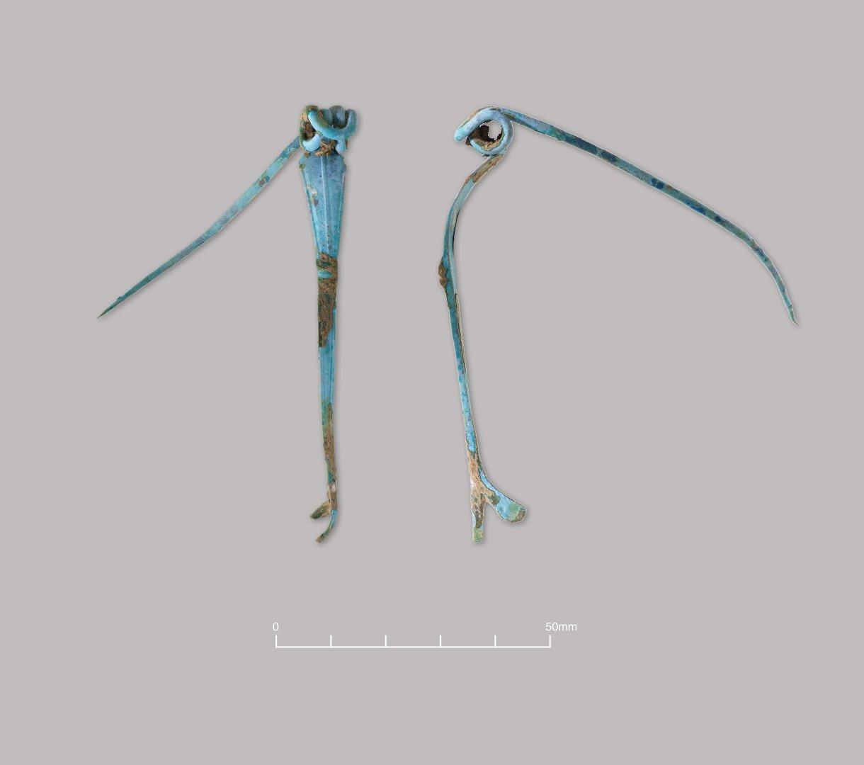 Copper Alloy La Tène III/'Boss-on-Bow' brooch. Late Iron Age (c. 100–50 BC)