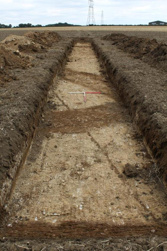 view of evaluation trench