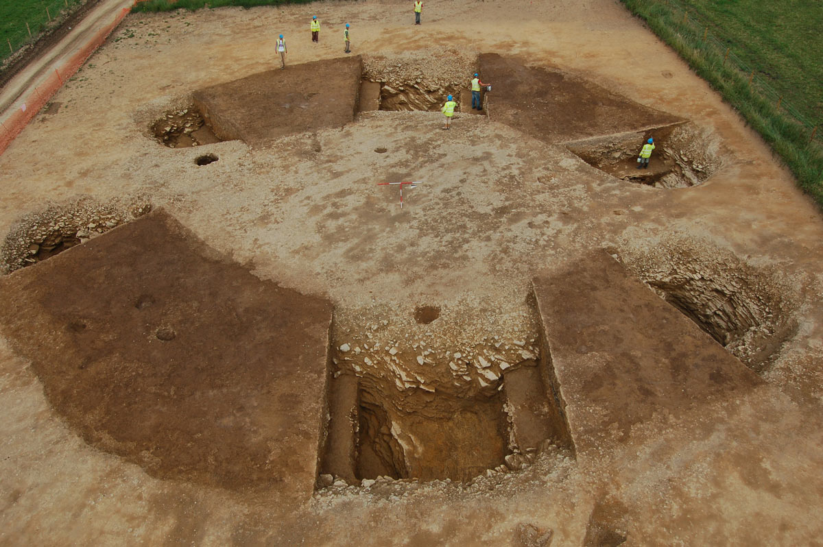 The henge at Vaynor farm – found on the route of the SW gas pipeline and subjected to r