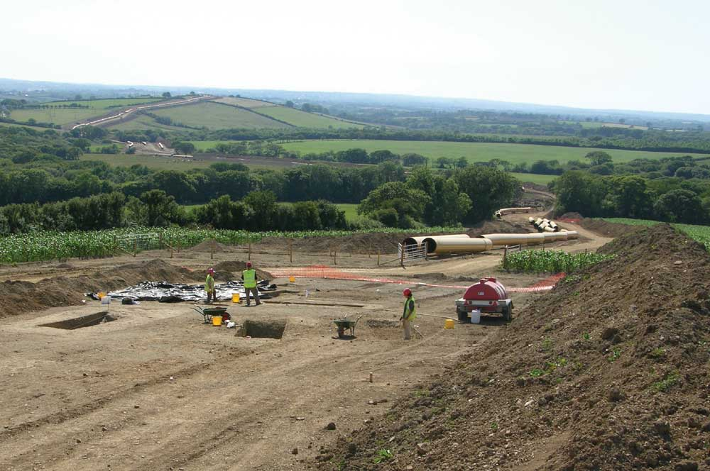 The pipeline snaking across the landscapeexcavation at Conkland Hill