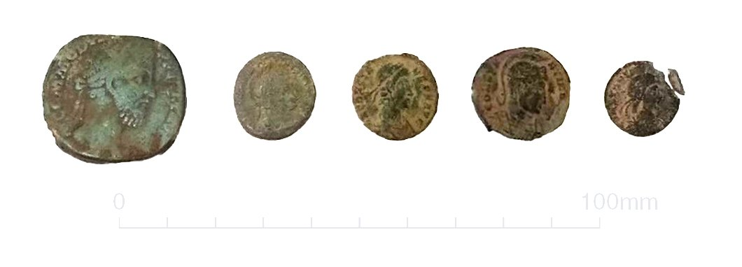 A selection of copper alloy coins