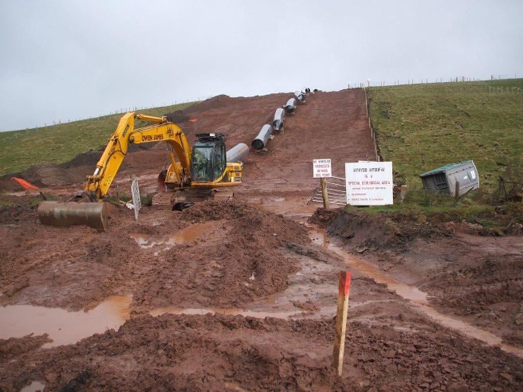 Challenging upland machining on Mynydd Myddfai