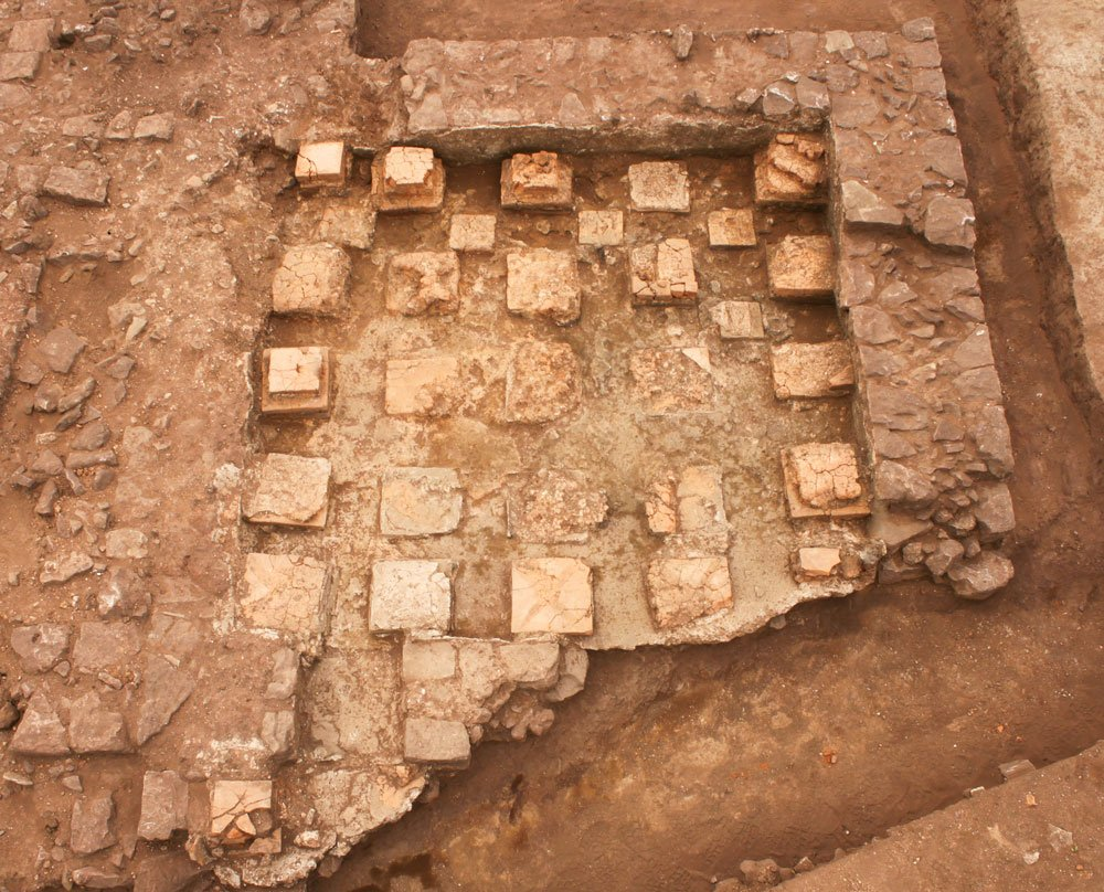 Hypocaust discovered at Cannington Bypass, Somerset