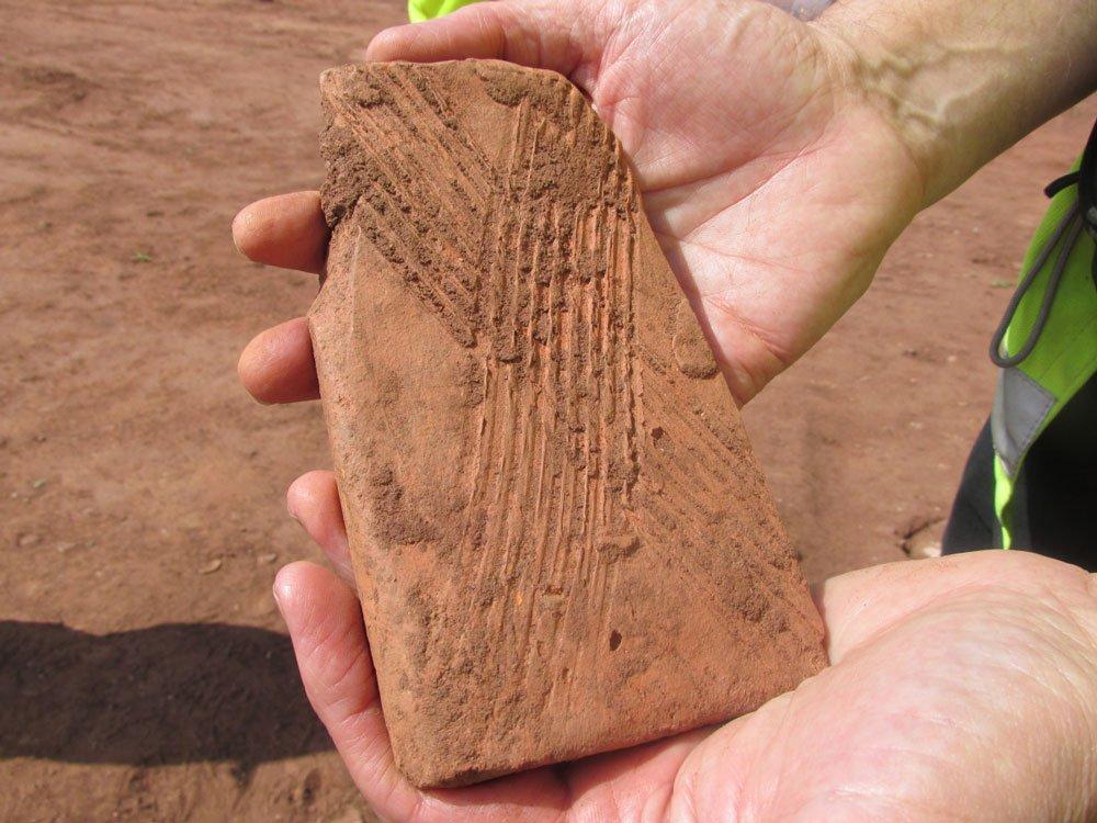 Roman flue tile
