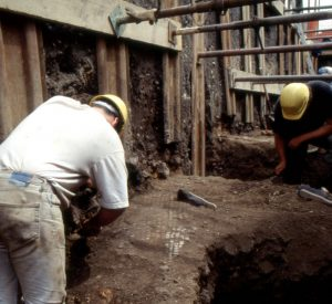 Recording the mosaic floor from a Roman town house at Ladybellegate Street