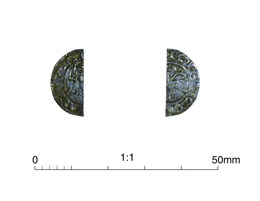 Fig. 9  clipped silver penny of William I
